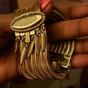 60's Vintage Monet 6 cable multi-strand bracelet.